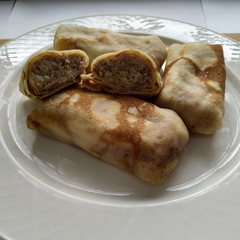 Блинчики с мясом внешний вид продукта