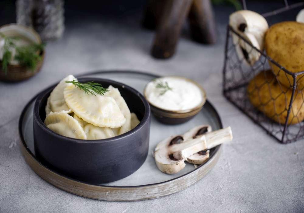 Вареники с картошкой и грибами внешний вид продукта